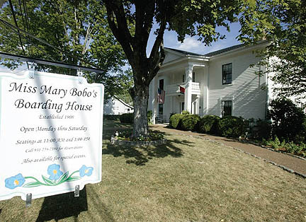 Miss Mary Bobo's Boarding House established 1908. Renovated in 2006, parts of the building date back to the 1820's. It was frequented by US Revenue Agents, traveling salesmen and single school teachers in the old days