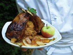 Lamb Chops with Dekuyper Sour Apple Pucker Mint Sauce