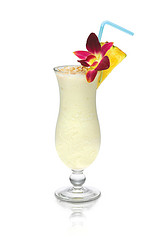 in the Mix - TOASTED COCONUT COLADA - SKYY Infusions Pineapple, Toasted Coconut, Amaretto, Homemade Sour Mix, Fresh Pineapple, Coco Lopez, Sweetened Coconut Milk, Angostura Bitters