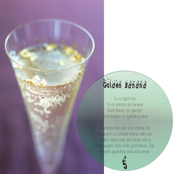 in the Mix Magazine - Golden Banana with Champagne