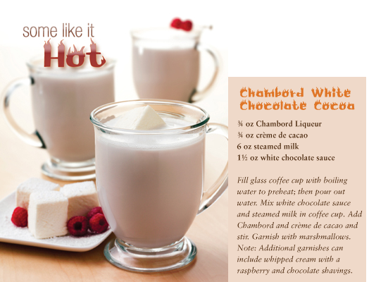 in the Mix Magazine - Chambord White Chocolate Cocoa