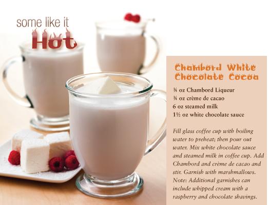 in the Mix Magazine - Chambord White Chocolate Cocoa