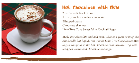 in the Mix Magazine - Hot Chocolate with Bacardi Black Rum