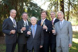 Representing Folio Fine Wine Partners was Michael Mondavi; representing Charles Krug Winery were Peter Mondavi, Sr., Peter Mondavi, Jr., and Marc Mondavi. Representing Continuum Estate were Tim Mondavi and Marcia Mondavi Borger.