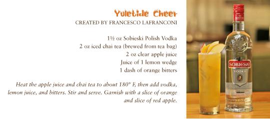 in the Mix Magazine - Yuletide Cheer with Sobieski Polish Vodka. Created by Francesco LaFranconi