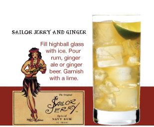 Sailor Jerry and Ginger - in the Mix Magazine