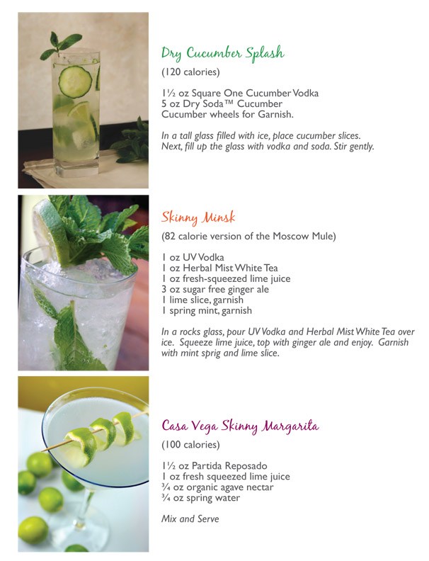 Skinny Margarita - Low Calorie Moscow Mule - Square One Cucumber Vodka