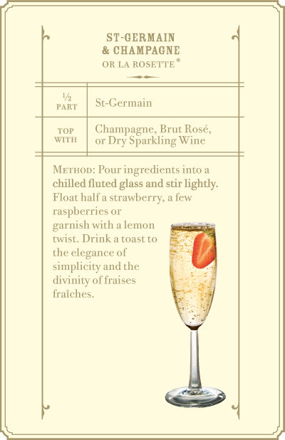 St-Germain and Champagne - Cocktail Recipes