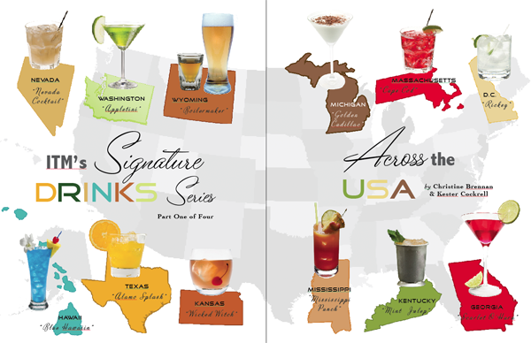 in the Mix Magazine Signature Drinks Across the USA - Cocktail Recipes