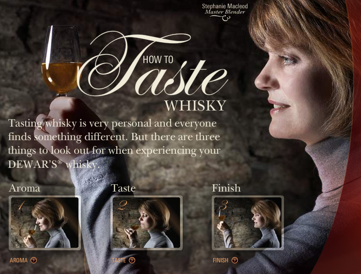 how to taste whisky by dewar's