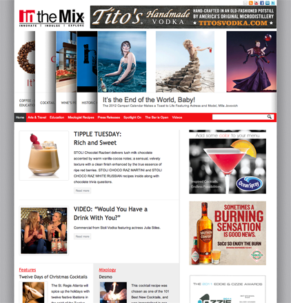 in the Mix Magazine by Kester Cockrell of Kester Kreative, Atlanta Web Designer