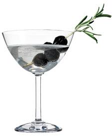 olive rosemary gin martini