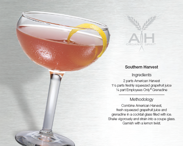 southern harvest cocktail recipe with american harvest vodka