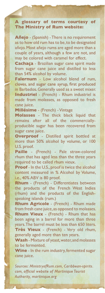 rum and rhum agricole education - glossary of terms