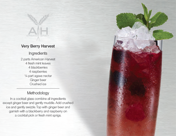 Very Berry Harvest Cocktail Recipe with American Harvest Vodka