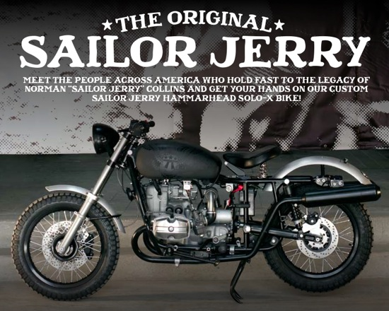 sailor jerry contest - giving away a custom hammarhead solo-x bike