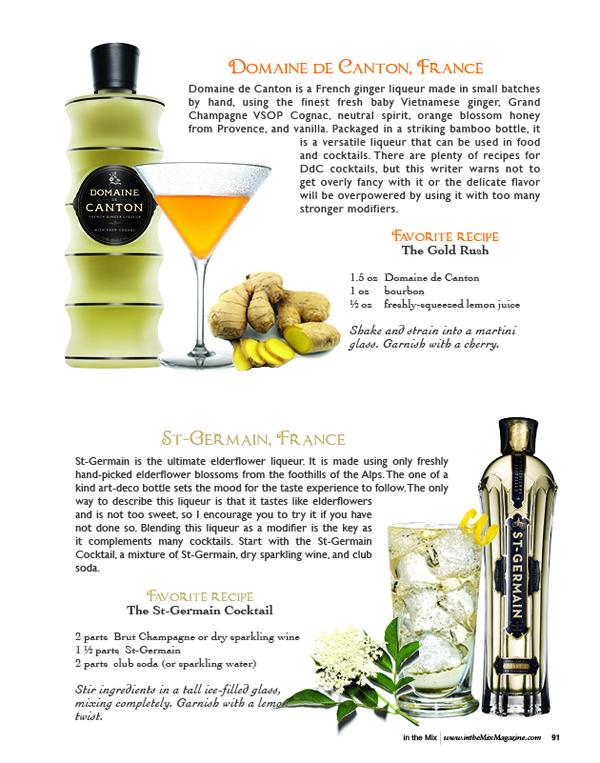 domaine de canton and st-germain liqueurs