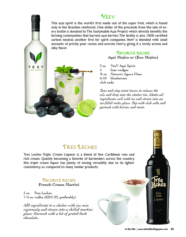 veev and tres leches liqueur