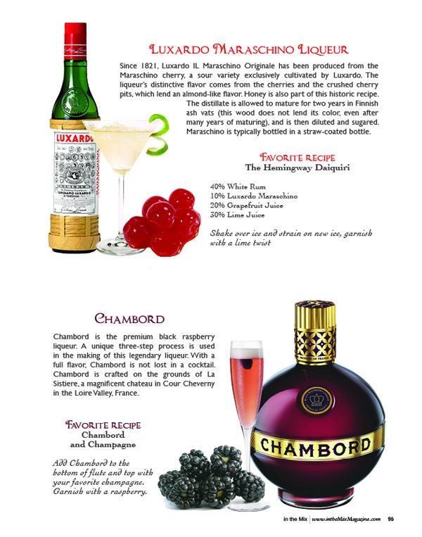 Luxardo Maraschino Liqueur and chambord