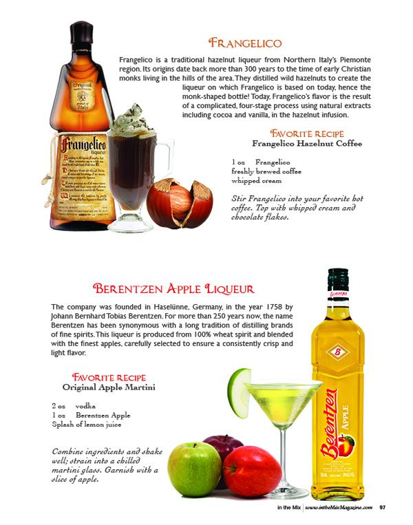 frangelico and  Berentzen Apple Liqueur