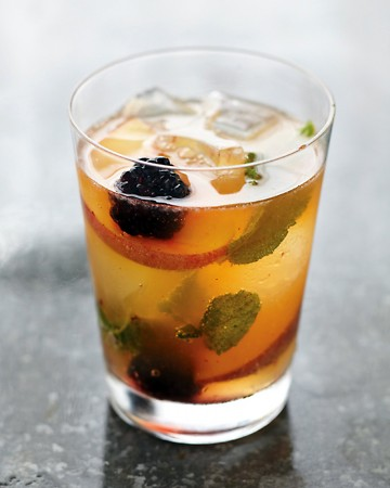 peach and blackberry muddle cocktail recipe by martha stewart