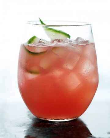 watermelon cucumber cooler cocktail recipe by martha stewart