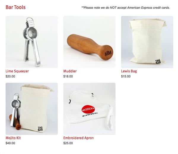 tony abou-ganim - bar tools for sale