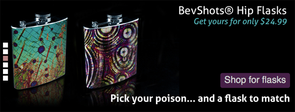 bevshots - unique flasks with art