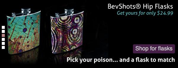 bevshots - unique flasks with art