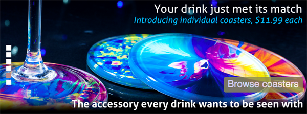 bevshots - uniques and colorful coasters