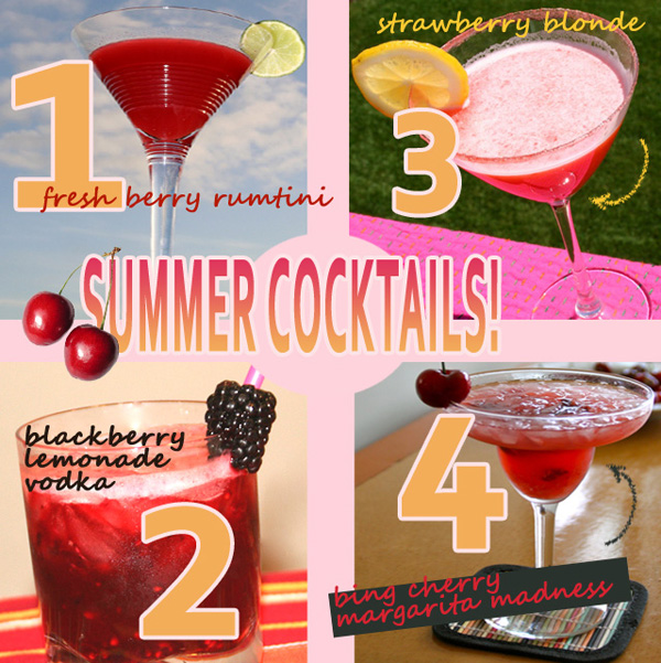 organic summer cocktails