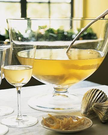 lemon drop champagne punch - brunch cocktails by martha stewart