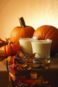 Pumpkin Frappe halloween cocktail recipe with four roses bourbon