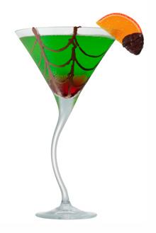 midori spider's kiss halloween cocktail recipe with skyy vodka