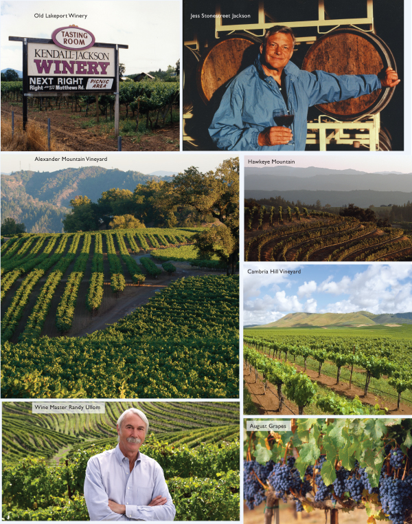 kendall-jackson, jess stonestreet jackson remembered, randy ullom wine master, cambria hall vineyard, hawkeye mountain, old lakeport winery