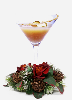 holiday / christmas cocktail recipe with Domaine De Canton Ginger Liqueur and Bols Vanilla Liqueur