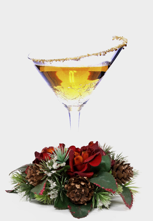 holiday / christmas cocktail recipe with Apple Brandy or Calvados and Grand Marnier