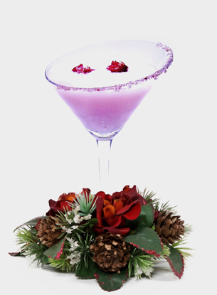 holiday / christmas cocktail recipes with bacardi oakheart and white godiva liqueur