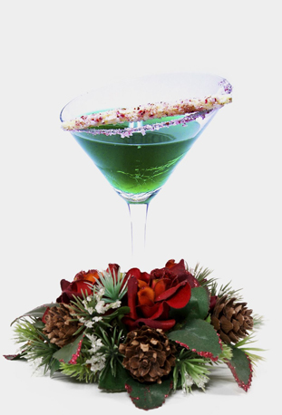 holiday / christmas cocktail recipe with Grey Goose Vodka and Bols Green Crème de Menthe and Bols Peppermint liqueur