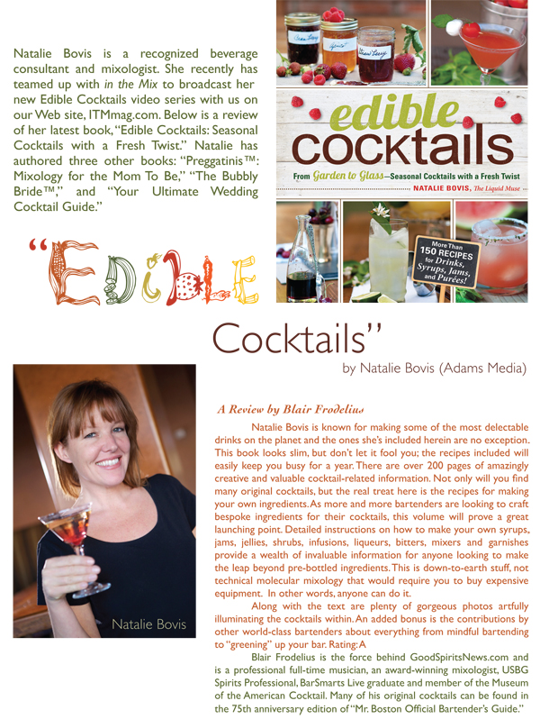 edible cocktails by natalie bovis
