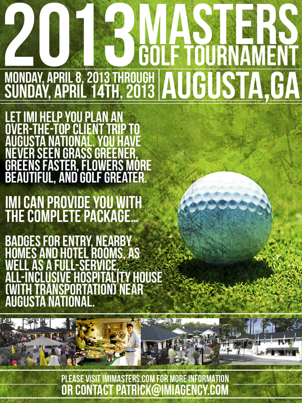 masters golf tickets and packages for sale 2013