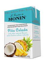monin pina colada fruit smoothie mix