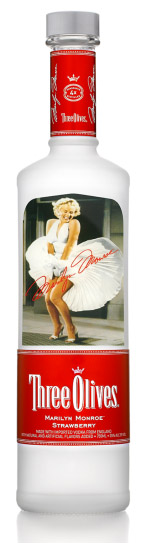 marilyn monroe vodka by three olives