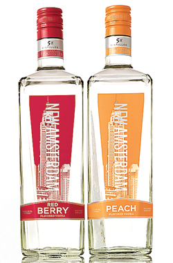 new amsterdam red berry and peach vodka