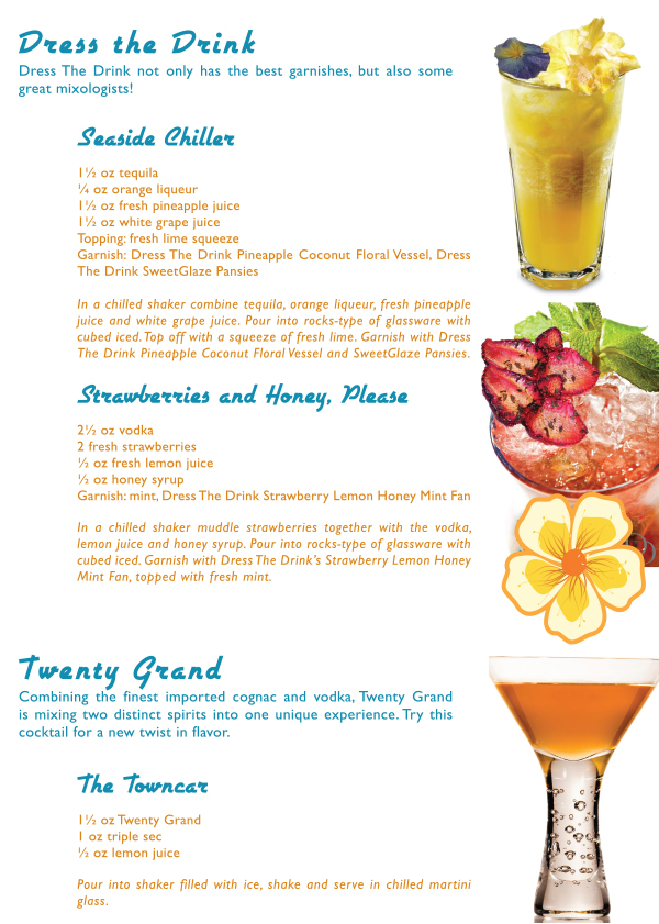 dress the drink cocktail garnishes