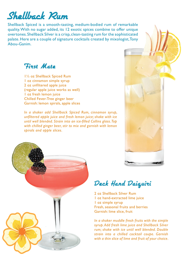shell back rum summer cocktail recipes
