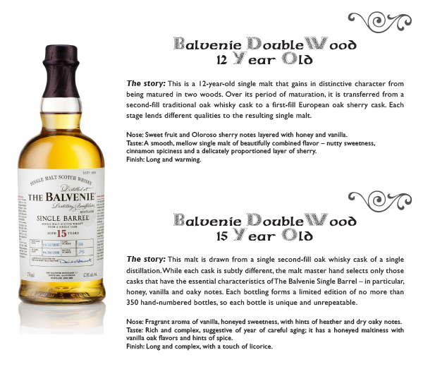 balvenie 12 and 15 year