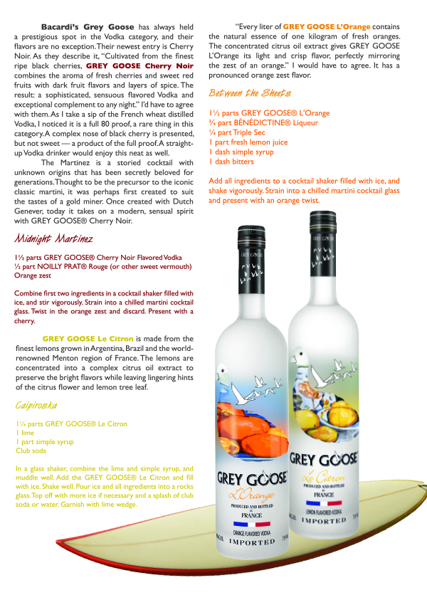 Grey goose le citron and between the sheets with grey goose l orange