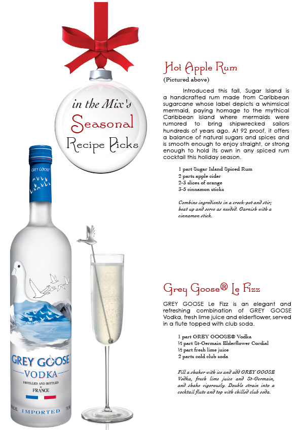 grey goose holiday cocktail - le fizz