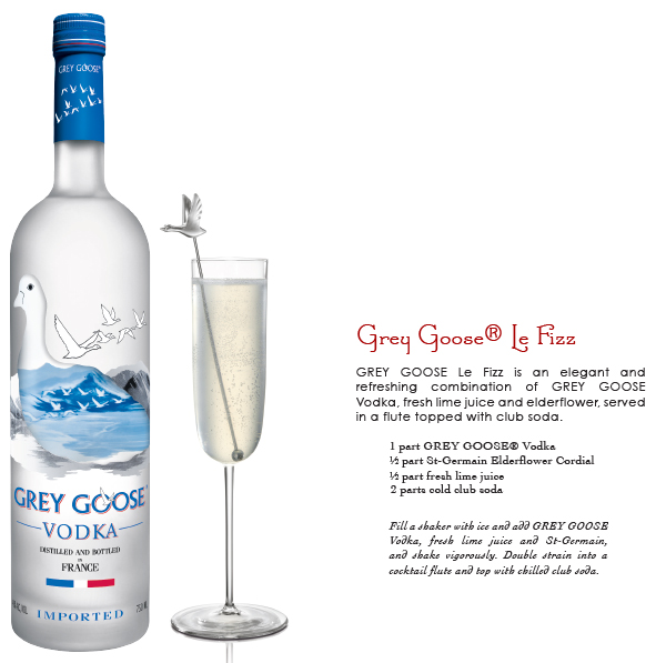 grey goose - le fizz - cocktail recipe
